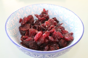 Dried cranberries.